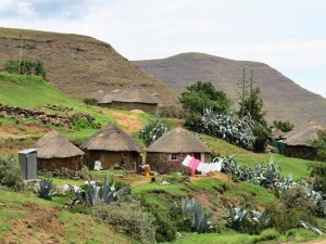 Beeld van Lesotho local life