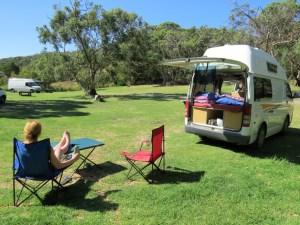 Aire River gratis camping Australië