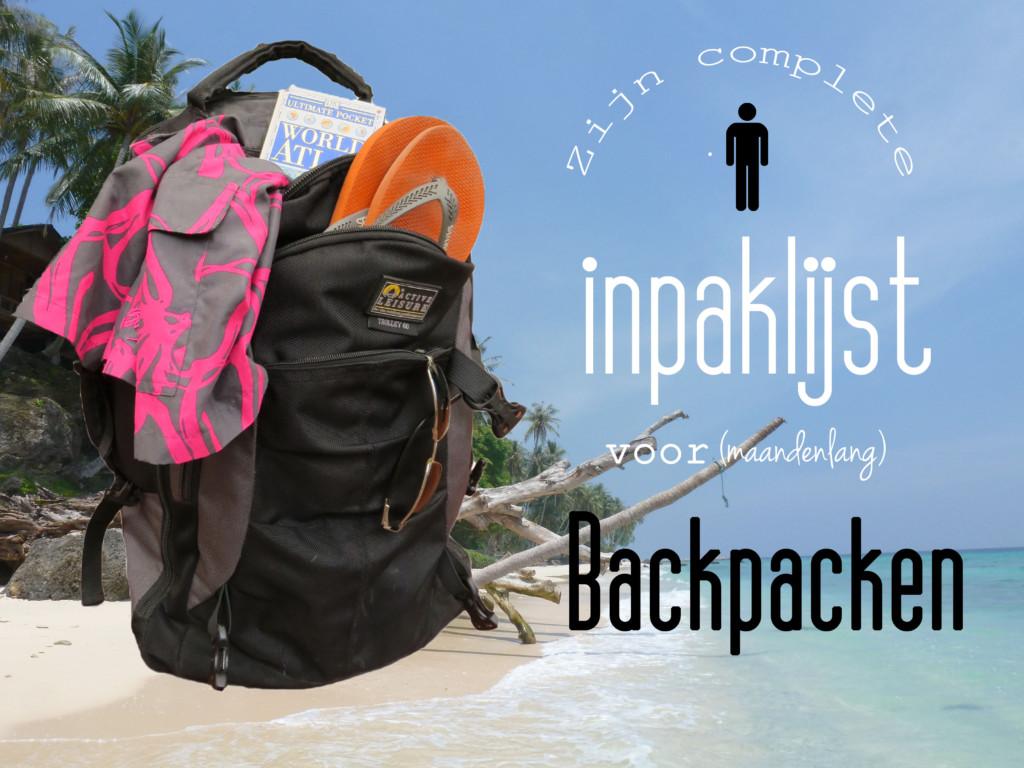 Inpaklijst backpacken man