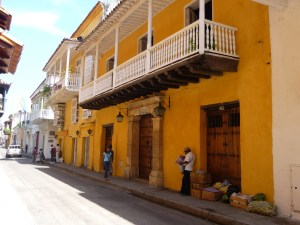 Straatbeeld Cartagena Colombia