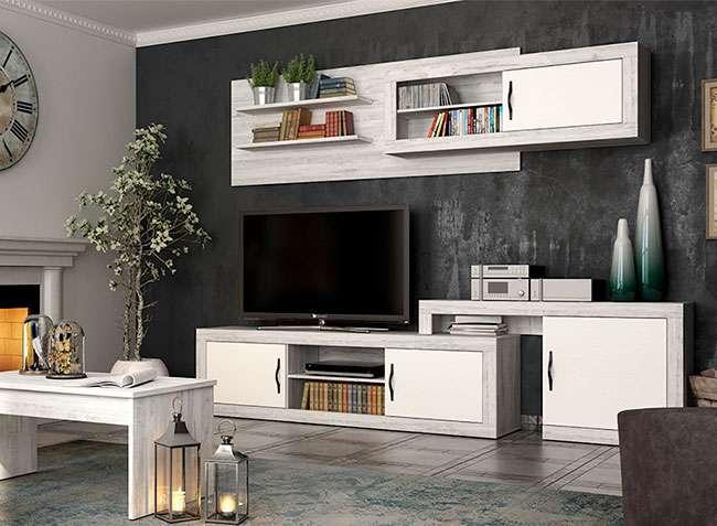 Conjunto mueble saln modular original blanco vintage
