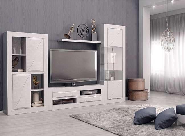 Muebles de saln modernos y modulares color blanco