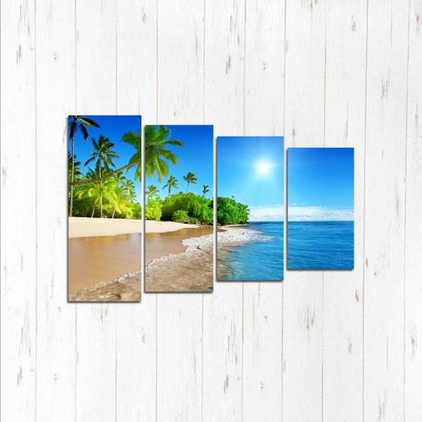 Модульная картина Море пальмы