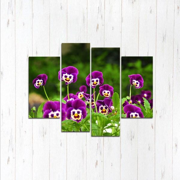 Модульная картина Фиолетовые лица