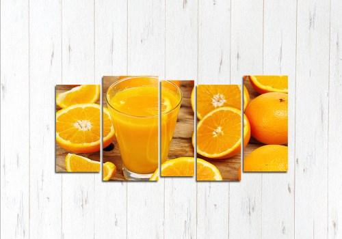 Модульная картина Апельсиновый взрыв