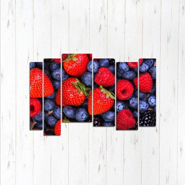 Модульная картина Лесные ягоды