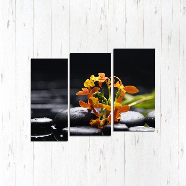 Модульная картина Цветок в камнях