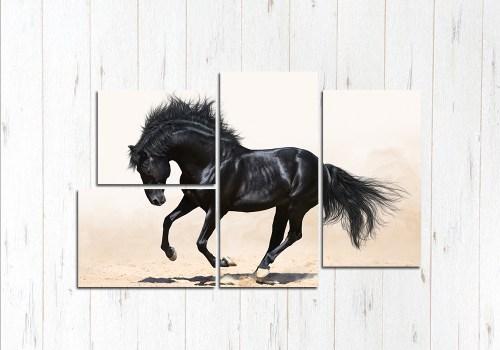 Модульная картина Конь ретивый