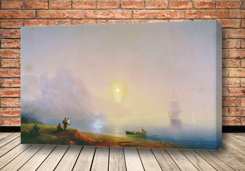 Картина Берег моря. Туманное утро 1850-е 1850-е