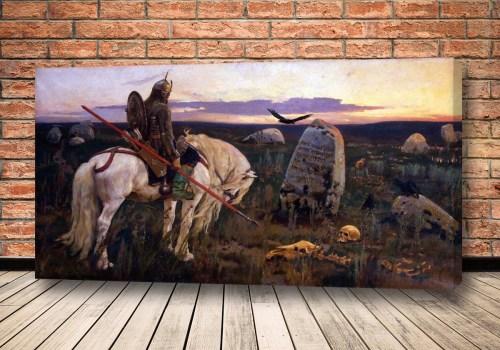 Картина Витязь на распутье Васнецова