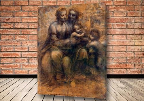 Картина Мадонна с Младенцем со святой Анной и маленьким Иоанном Крестителем