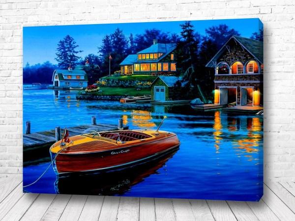 Постер Домик на берегу