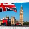 Постер Англия и флаг