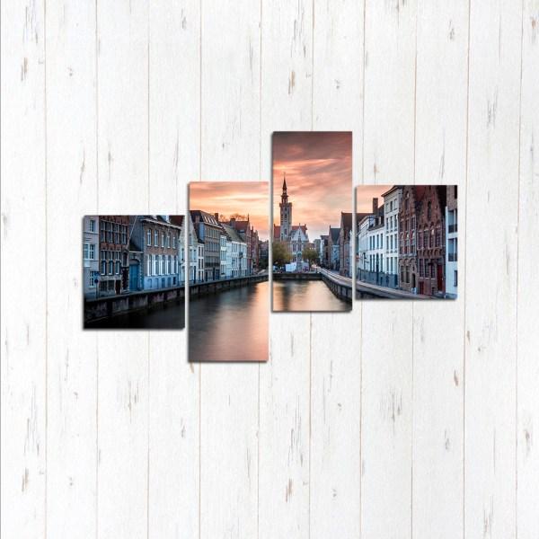 Модульная картина Брюгге закат
