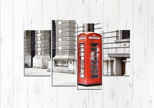 Модульная картина Красная будка