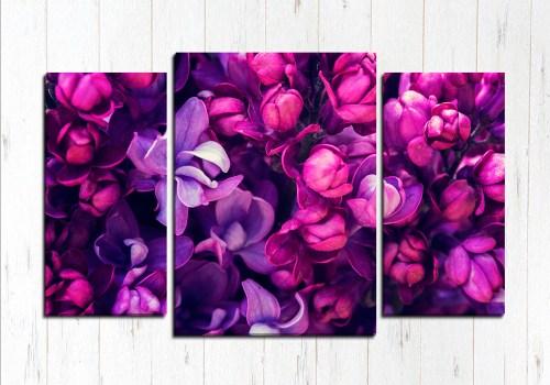 Модульная картина Фиолетовая роща