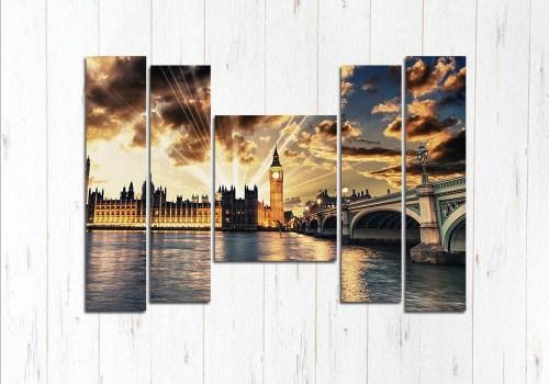Модульная картина Загадочный Лондон