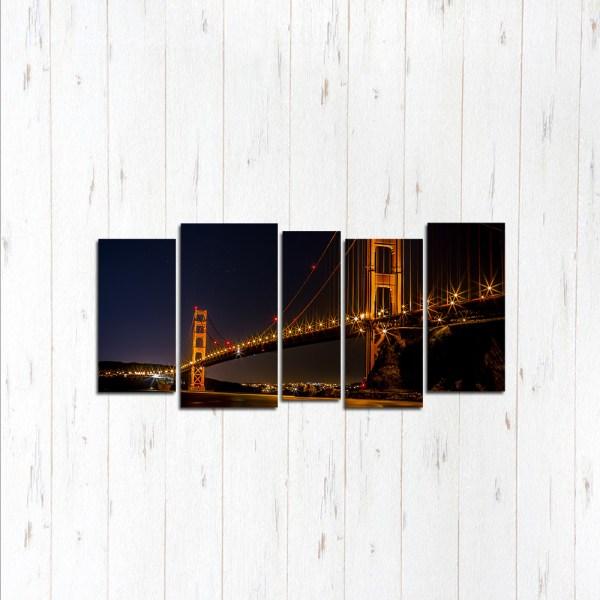 Модульная картина Ночные огни Сан Франциско
