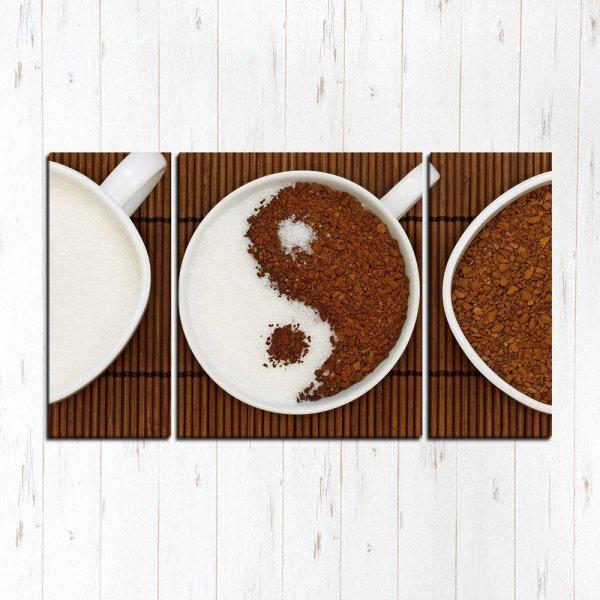 Модульная картина Кофе Инь Янь
