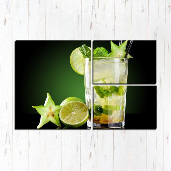 Модульная картина Мохито коктейль