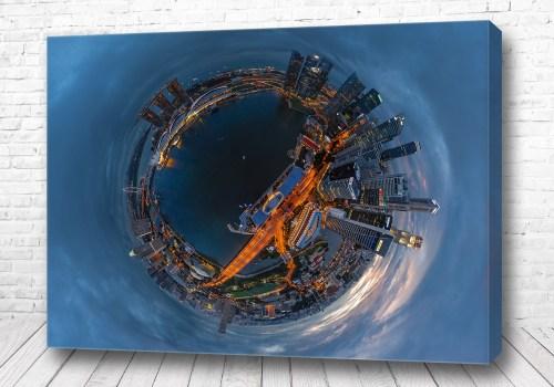 Постер Сингапур 360 градусов