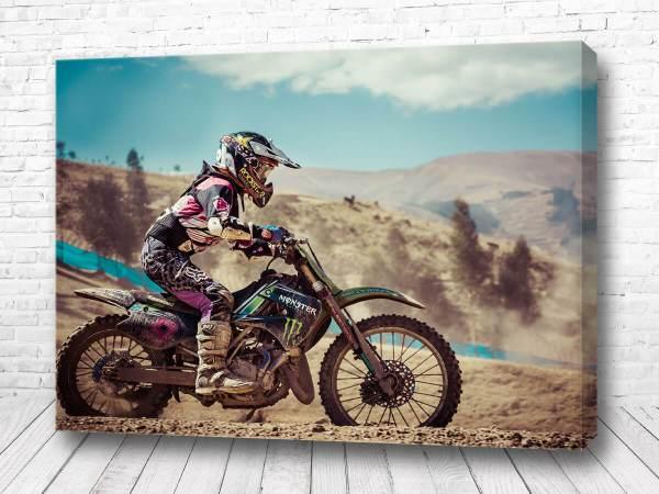 Постер Кроссовый мотоцикл