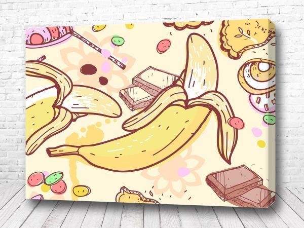 Постер Мультяшный банан