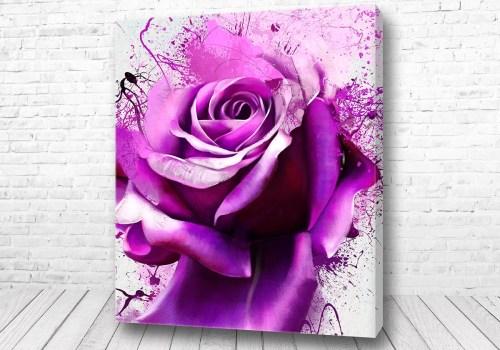 Постер Роза фиолет