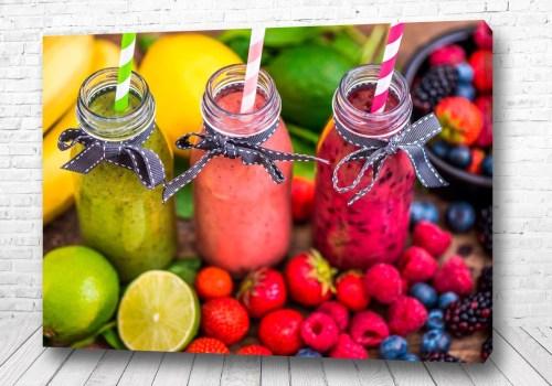 Постер коктейль из фруктов