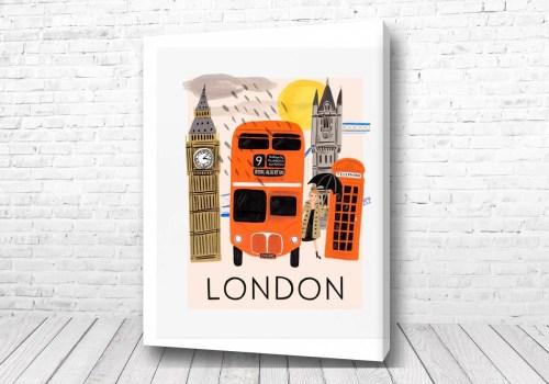 Постер Лондон стиль