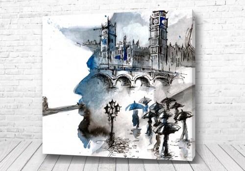 Постер Силуэт Шерлока