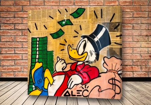 Картина Скрудж с деньгами – Alec Monopoly