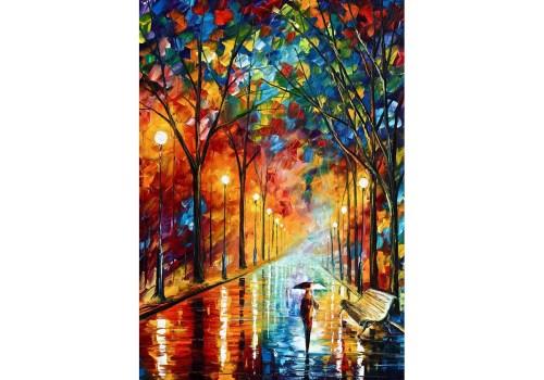 Картина Одиноко под дождём