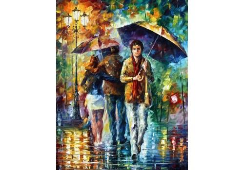 Картина Люби под дождём