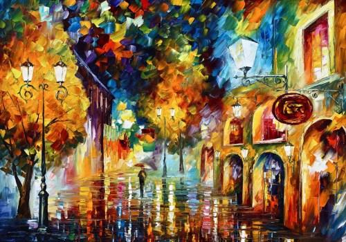 Картина Яркая улочка