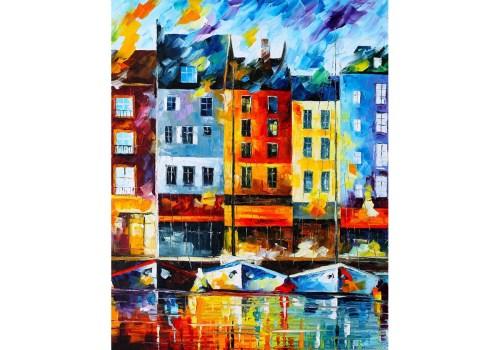 Картина Причал в городе