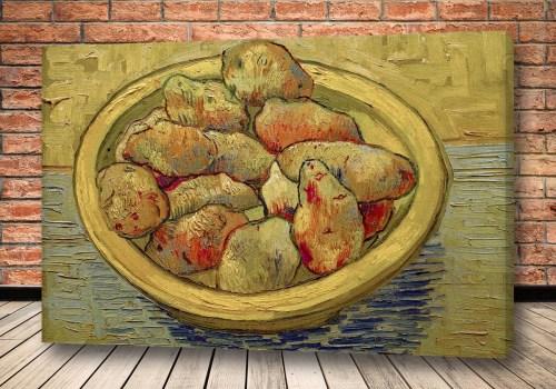 Картина Натюрморт с картофелем на желтом блюде
