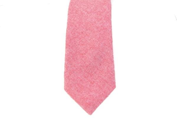 Rood roze effen stropdas van wol.