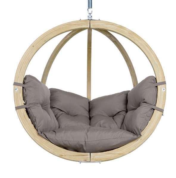 Hangstoel Ophangen Aan Plafond.Amazonas Globo Taupe Hangstoel