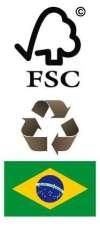 Logo FSC & Recycle & Brasil