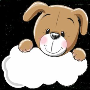 geboortebord hondje