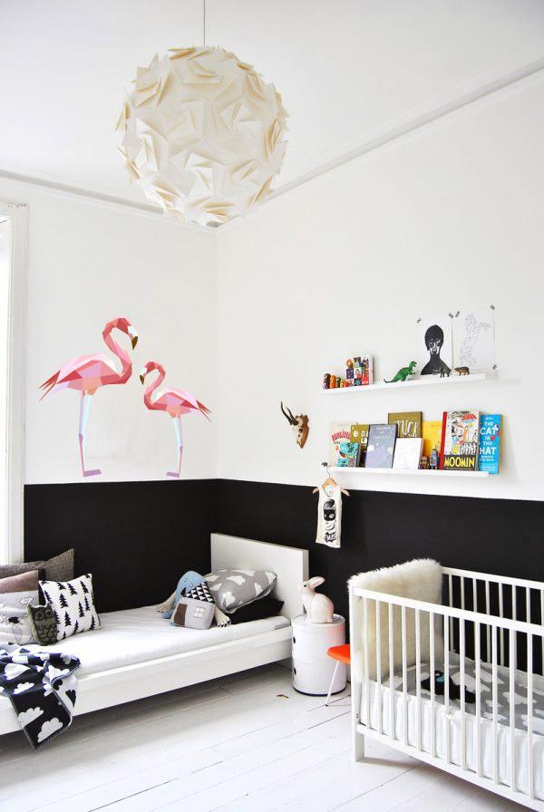 muursticker diamond flamingo