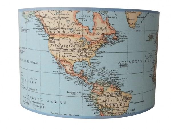 hanglamp wereldkaart