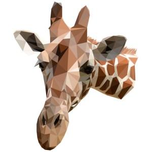 muursticker diamond giraf