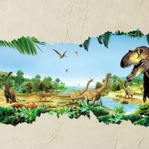 Muursticker dinosaurus wereld 3