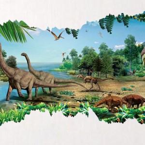 muursticker dinosaurus wereld