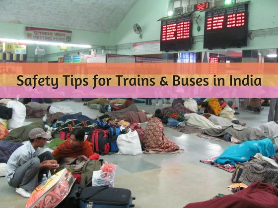 safety tips trains bus travel india