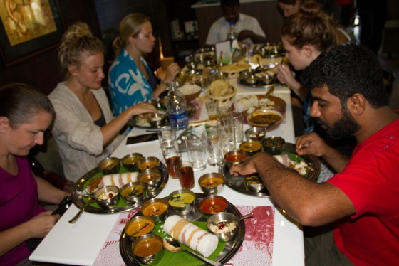 puttu eating with hands india