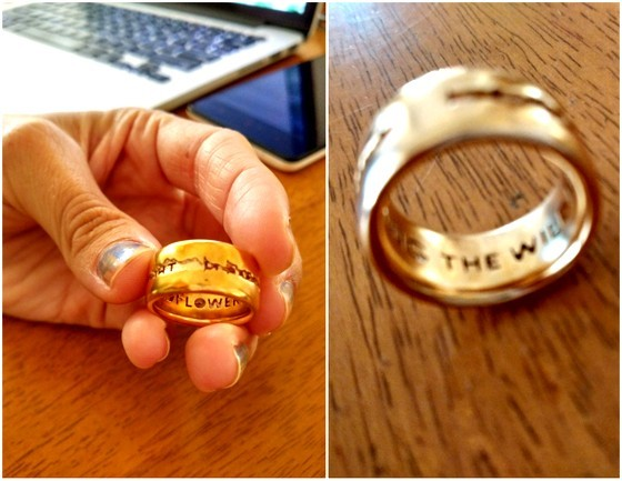 Etsy Finds lyric ring