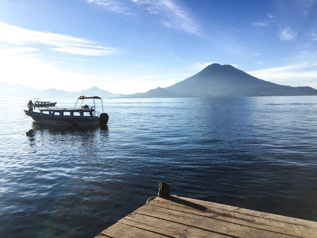 lake atitlan guatemala boat